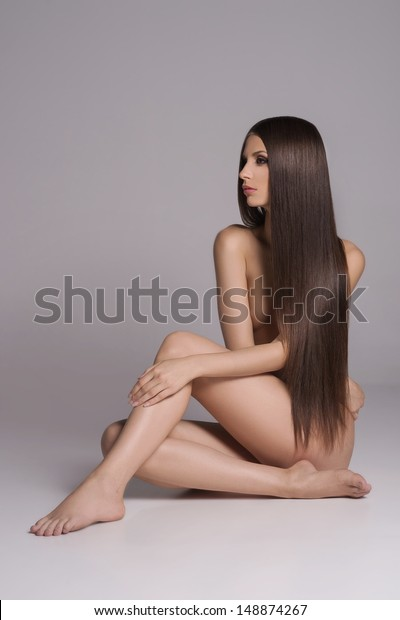Women with long hair nude